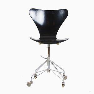 Silla de oficina 3117 de Arne Jacobsen, años 80