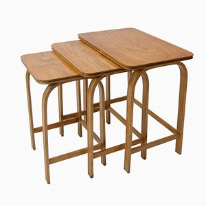 Model 741 Nesting Tables by Axel Larsson for Bodafors, 1930s