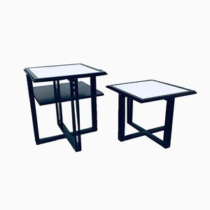 Galaxy Square Side Table Set by Umberto Asnago for Giorgetti, Italy, 1980s, Set of 2