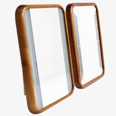 Art Deco Style Italian Mirrors, 1970s, Set of 2