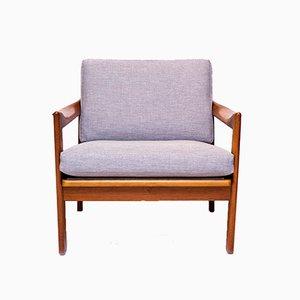 Danish Teak Lounge Chair by Illum Wikkelsø for Niels Eilersen, 1960s