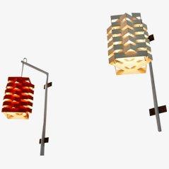 Lampade da parete a forma di stella di Esmann & Jensen per Nordisk, set di 2