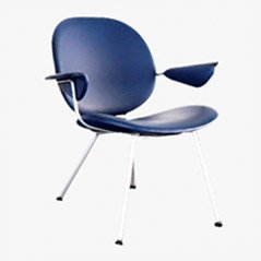 Vintage 302 Easy Chair by W.H. Gispen for Kembo, 1950s