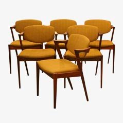 Model 42 Rosewood Z Chairs by Kai Kristiansen, Set of 6