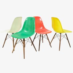 DSW Chairs by Eames for Herman Miller, Set of 4