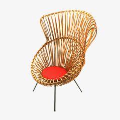 Margherita Chair by Franco Albini for Vittorio Bonacina / Rohe, 1950s