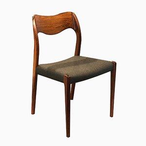 Chaise de Salle à Manger Modèle 71 Vintage en Palissandre par Niels O. Møller pour J.L. Møllers
