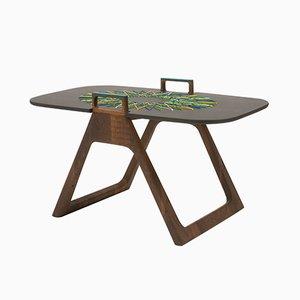 Tavolino Naledi con decorazione in tessuto di Patricia Urquiola