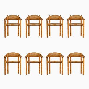 Vintage Esszimmerstühle aus Pinienholz von Rainer Daumiller für Hirtshals Savvaerk, 1970er, 8er Set