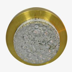 Bohemian Crystal and Metal Ceiling Lamp, 1960s
