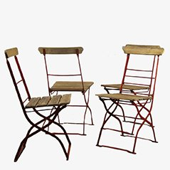 Vintage Outdoor Stühle, 1900er, 4er Set