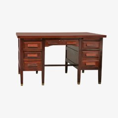 Cuban Art Deco Era Mahogany Desk