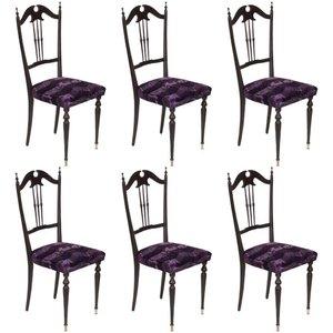 Italienische Mid-Century Modern Chiavari Stühle, 6er Set