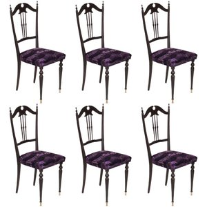 Mid-Century Modern Italian Chiavari Chairs, Set of 6