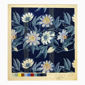 Passion Flowers Mid-Century Wallpaper by John Little, 1970s