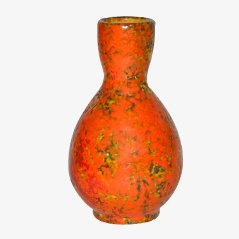 Mid-Century Orange & Yellow Ceramic Vase, 1950s