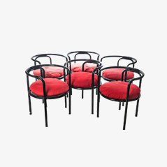 Mid Century Dining Chairs by Gae Aulenti for Poltronova, 1964, Set of 6