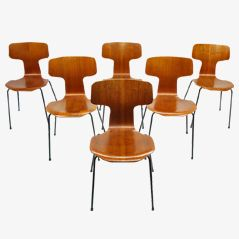 3103 Chairs by Arne Jacobsen for Fritz Hansen, Set of 6