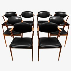 Model 42 Dining Chairs by Kai Kristiansen, 1960s, Set of 8