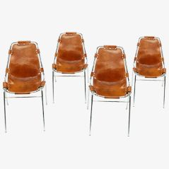 Les Arcs Chairs by Charlotte Perriand for Cassina, 1973, Set of 4