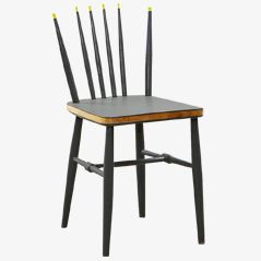 Crown Yellow & Gray Chair by Markus Friedrich Staab