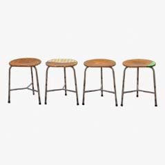 Einfache Hocker 1-4/Industrial Stools by Markus Friedrich Staab, Set of 4