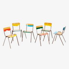 Flitter Flatter Stackable Chairs by Markus Friedrich Staab, Set of 6