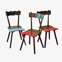Bavarian Steel Chairs by Markus Friedrich Staab, Set of 3
