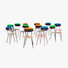 Papillon Pop Chairs by Markus Friedrich Staab, Set of 9