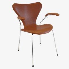3207 Syveren Elegance Dining Chair in Brown by Arne Jacobsen for Fritz Hansen