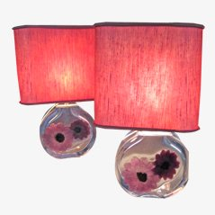 Coppelia Table Lamps from Daum, 1950s, Set of 2