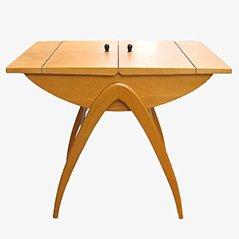 Tavolino con scomparto Mid-Century in frassino, anni '50