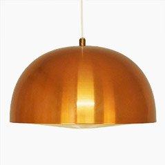 Lámpara colgante escandinava vintage de cobre, años 60