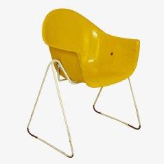 Sillas infantiles amarillas de Walter Papst para Wilkhahn, años 60