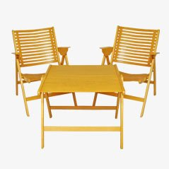 Rex Folding Chairs & Table by Niko Kralj, 1952, Set of 3