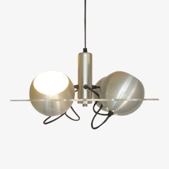 Lámpara colgante industrial de plexiglás y metal de Raak