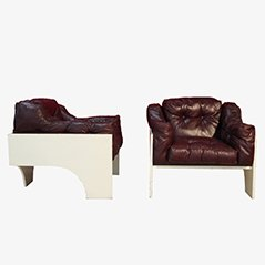 Oriolo Armchairs by Claudio Salocchi, 1963, Set of 2