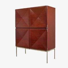 Mahogany Highboard by Philippon & Jaqueline Lecoq for Behr Möbel