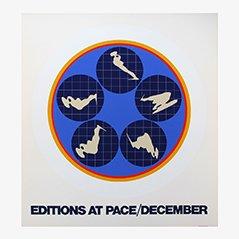 Amerikanische Lithographie von Ernest Trova, 1969