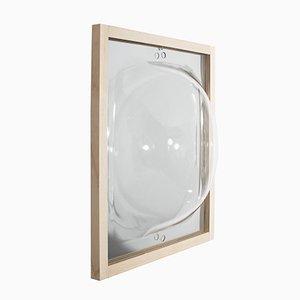 Miroir à Bulles en Noyer avec Tablette en Verre de Studio Thier&vanDaalen