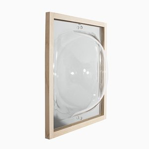 Walnut Bubble Showcase Mirror with Glass Shelf from Studio Thier&vanDaalen