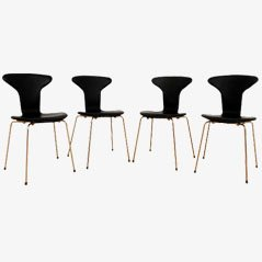 3105 Mosquito Chairs by Arne Jacobsen for Fritz Hansen, Set of 4