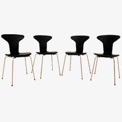 Sillas Mosquito 3105 de Arne Jacobsen para Fritz Hansen. Juego de 4
