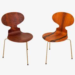Palisander Ant Chairs von Arne Jacobsen für Fritz Hansen, 2er Set