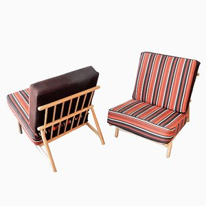 Mid-Century Swedish Lounge Chairs by Alf Svensson for Dux, 1950s, Set of 2