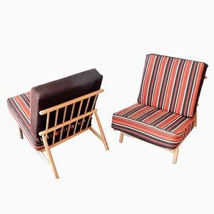 Schwedische Mid-Century Sessel von Alf Svensson für Dux, 1950er, 2er Set