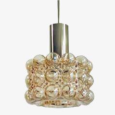 Lámpara de techo de cristal burbuja de Helena Tynell y Heinrich Gatenbrink para Limburg, años 60