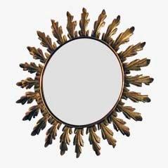 Specchio vintage a forma di sole, Francia, anni '50