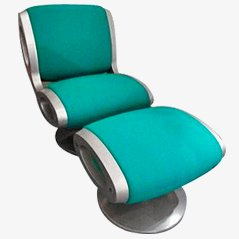 Gluon Chair and Ottoman by Marc Newson for Moroso, 1993