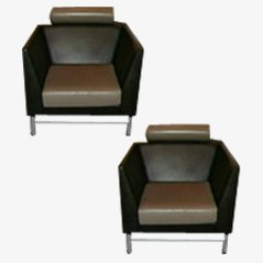 Lounge Chairs by Ettore Sottsass for Knoll, 1982, Set of 2